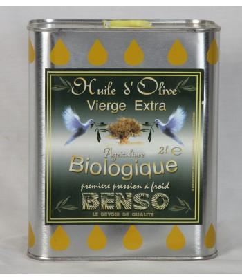 Huile d'olive biologique extra vierge 2 litres