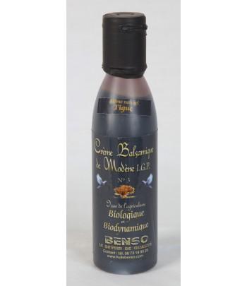 crème balsamique biologique et bio-dynamique, aromatisée aux figues 150 ml